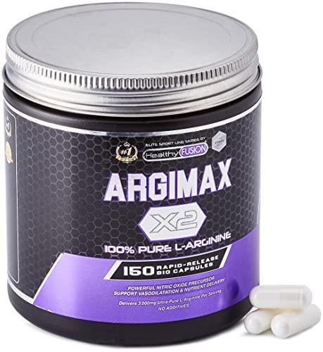 Healthy Fusion Arginina Pura Per Dose | Potente Arginina In Capsule Per Aumentare L'Energia, Le Prestazioni Sportive E Lo Sviluppo Muscolare - 300 g