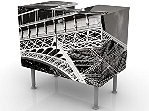 Apalis Waschbeckenunterschrank Eiffelturm 60x55x35cm Design Waschtisch, Größe:55cm x 60cm