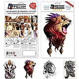 Tatuajes Temporales León, Dragón, Elefante para Hombre/Mujer/Diseño muy...
