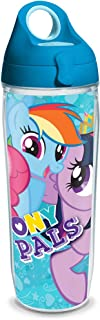 Tervis 1228977 My Little Pony Pals 24oz Water Bottle with Turquoise WB Lid, Clear