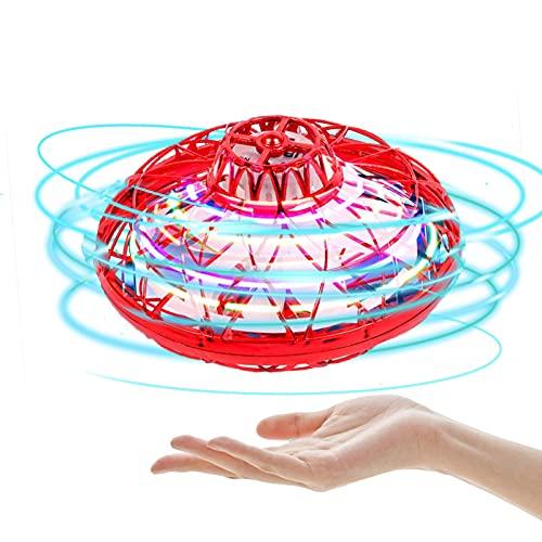 Facynde Giocattolo Palla Volante Mini Drone Volante Giocattolo A Forma di Globo Magico Controller Spinner Luci RGB Integrato Rotazione A 360° per Bambini All'aperto al Coperto