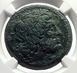 1000 GR PTOLEMY II of Egypt RARE SICILY Issue Under Hiero coin Ch VF NGC