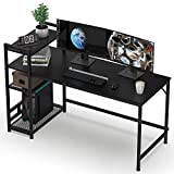HOMIDEC Computer Desk, Computer Desk with Bookshelf, Study Computer Laptop Table with 4 Tier DIY...