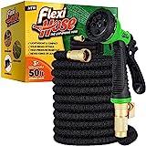 Flexi Hose with 8 Function Nozzle, Lightweight Expandable Garden Hose, No-Kink Flexibility, 3/4 Inch...