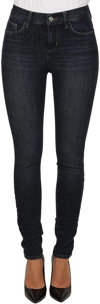 Liu jo jeans bottom up amazing fit divine blu scuro,per donna a vita alta,81% cotone,14% poliestere, 5 elastan