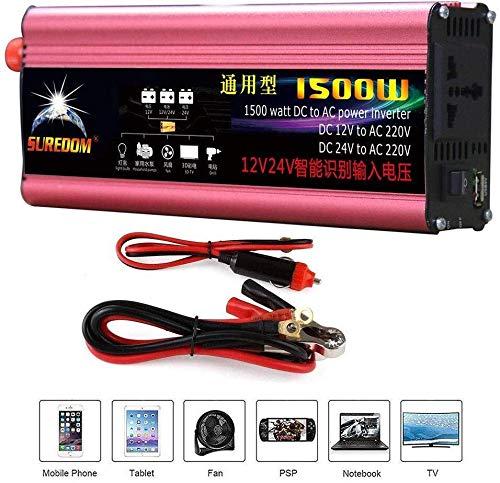 AZHom 1200W (Peak2400W) reine Sinus-Wellen-Energien-Inverter 12V / 24V bis 230V 240V Auto-LKW-Spannungswandler.Stecker for Zigarettenanzünder, USB-Anschluss aufladen und direkte Anbindung an Autobatte