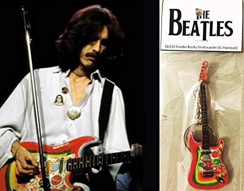 Llavero de guitarra Fender Rocky Stratocaster George Harrison The Beatles