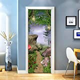 KEXIU 3D Seta mariposa PVC fotografía adhesivo vinilo puerta pegatina cocina baño decoración mural 77x200cm