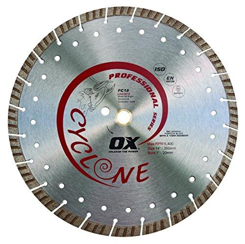 OX Tools 14' Supercut Segmented Diamond Blade   Concrete/General Purpose   1-20mm Bore