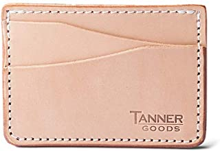 | Journeyman, Front Slim 4 Card Wallet, Natural Tooling Leather