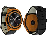 Skinomi Light Wood Full Body Skin Compatible with LG G Watch R (Full Coverage) TechSkin with Anti-Bubble Clear Film Screen Protector