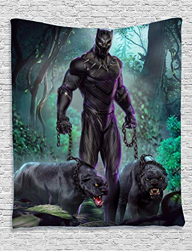 Black Panther Tapestry Movie Theme Wall Hanging Home Decor for Living Room Bedroom Dorm