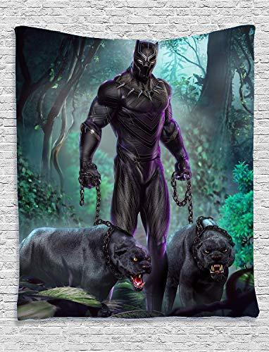 YCLQCTPART Tapiz de Pantera Negra para Colgar en la Pared, decoración del hogar para Sala de Estar, recámara, habitación, 50 x 60 Pulgadas