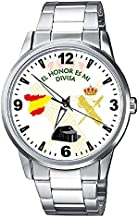 CASIO® Reloj Guardia Civil Fondo Blanco con Escudo Metálico Sumergible
