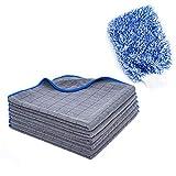KEJA Mikrofaser Reinigungstücher Universal Poliertuch mit 380 GSM 6 Stück Plus Auto Waschhandschuh...