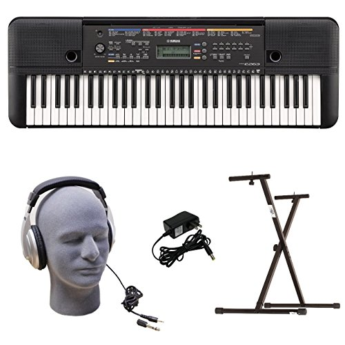 Yamaha PSRE263 Portable Keyboard Package with YXKS Stand