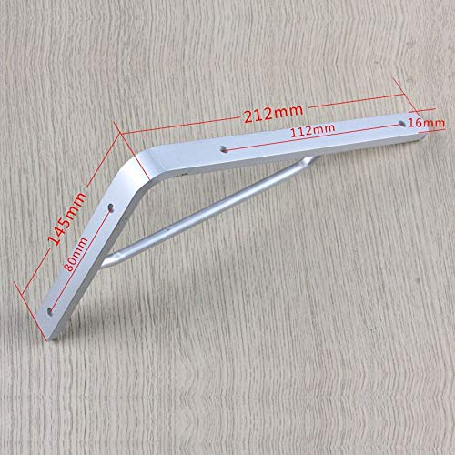 Verstelbare klaphouder, stabiel aluminium frame, plankenhouder, planken, 90 graden hoekframe, statief, afmetingen optioneel draaibaar (afmetingen: 400 x 220 mm). 246 * 160mm