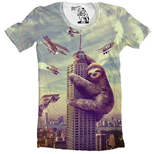 Sharp Shirter Funny Sloth T Shirt Mens Tee Cool Animal Tees Humorous Slothzilla t-Shirt for Guys
