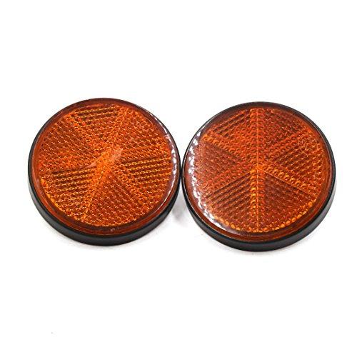 sourcing map 2stk. Kunststoff Runde Schraubmontage Reflektoren Warnreflektor Auto Orange de