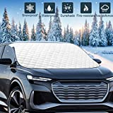 """Mumu Sugar Upgrade Version Car Windshield Snow Ice Cover, 78.7""""x48"""" Extra Large 5 Layers Protection, Snow,Ice,Sun Shade,Frost Defense,Windshield Winter Cover for Most Cars Trucks Vans and SUVs"""