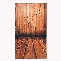 3×5FTビニール茶色の木の床の壁の写真撮影の背景の背景スタジオプロップ