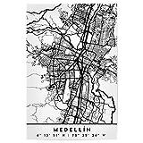 artboxONE Poster 90x60 cm Städte Medellin Colombia Black