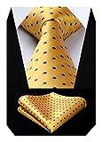 BIYINI Corbata y panuelo de corbata con diseno de jacquard Woven Classic para hombre y corbata...