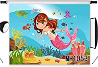 HD Underwater Mermaid Backdrop for Photography 10x7ft Girls Birthday Party Photo Background for Kids Children Baby Portraits Shoot Vinyl Customized Studio Props MH1053