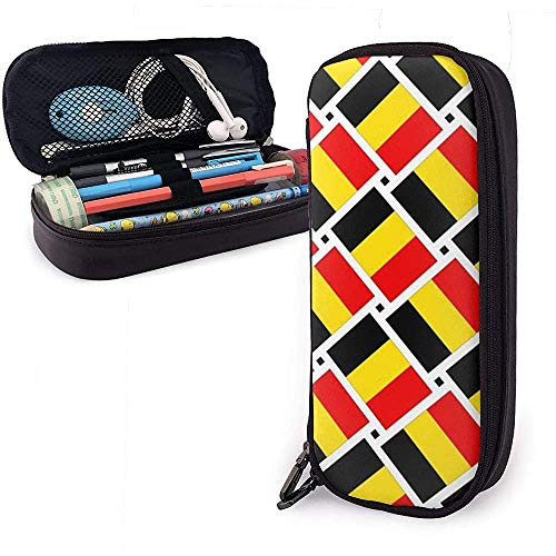 Funda de lápiz de tejido de bandera de Bélgica Estuche de lápiz Estuche de lápiz Organizador de papelería Bolsa de maquillaje cosmético