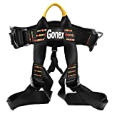 Gonex Rock Climbing Harness Tree Full Body Climbing Rope Adjustable Safe Seat Belts for Mountaineering Caving Rock Climbing for Adult Man Women Youth