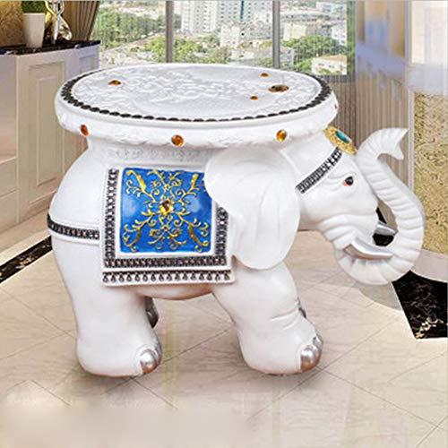 Artes De La Resina Elefante Grande Tamaño Europeo Taburete Hogar Decoración Productos del Hogar a Mano Patrón Hueco Decoración De Diamantes De Imitación Soporte De Plantas Esta
