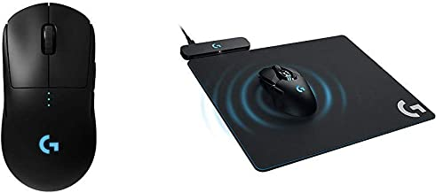 Logitech G Pro Wireless Gaming Mouse with Esports Grade Performance & G Powerplay Wireless Charging System for G703, G903 Lightspeed Wireless Gaming Mice, Cloth or Hard Gaming Mouse Pad