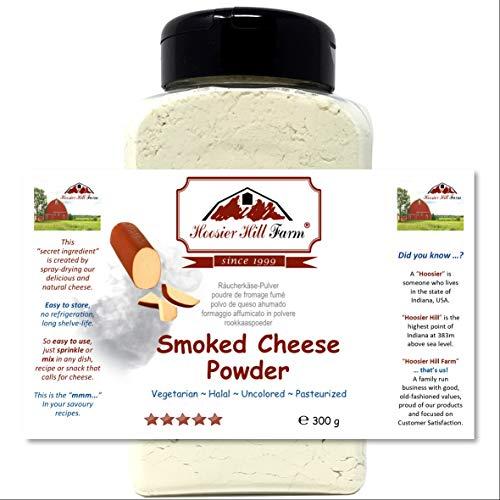 Hoosier Hill Farm Queso ahumado en polvo (300 gramos) Ingrediente fácil y aderezo sabroso