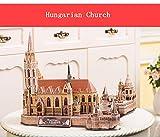 GQQ Tridimensional Puzzle,Manual DIY Modelo De Papel Edificio Creativo Decoración Regalo,Hungarianchurch