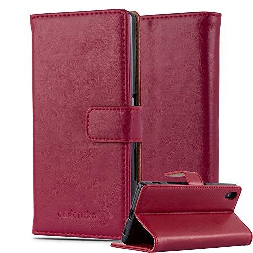 Cadorabo Funda Libro para Sony Xperia Z5 en Rojo Burdeos - Cubierta Proteccíon con Cierre Magnético, Tarjetero y Función de Suporte - Etui Case Cover Carcasa