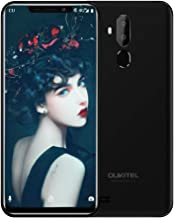 OUKITEL C12 Unlocked Cell Phones Dual SIM Mobile Phone 6.18 Inch 19:9 Full-Screen Display 3300mAh Battery Global 3G Android 8.1 Smartphone Quad Core 2GB + 16GB Fingerprint & Face Unlock, Black