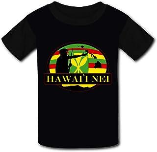 T-Shirt Hawai'i Nei Kanaka Maoli by Hawaii Nei All Day 3D Print Short Sleeve Top Tees for Boys Girls Funny Novelty