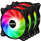 upHere 4PIN PWM 120mm Rainbow LED Computer Case PC Cooling Fan Ultra Quiet