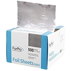 Aluminum Foil: Pre-cut aluminum foil sheets are made from 100% aluminum Embossed Foil: Foil sheets feature an embossed design that helps hair to better grip the foil Pop-Up Dispenser Box: No cutting, folding, or tearing required Multi-Use Foil Sheets...