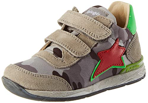 Falcotto New FERDI VL, First Walker Shoe Bimbo 0-24, Piombo-Multi, 25 EU