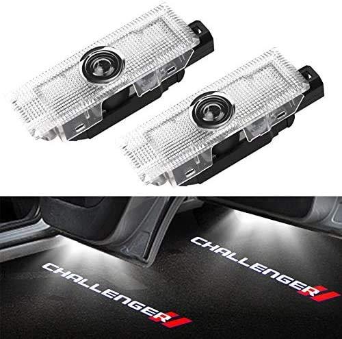 Duleutgnu 2 Stück LED Autotür Türbeleuchtung Beleuchtung KFZ Türen Einstiegsbeleuchtung Door Willkommen Logo Lichter 3D Emblem