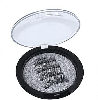 Abelyn Magnetic Eyelashes 3 Magnets Black Natural Hand Made Reusable False Eyelashes Makeup ML00524P3