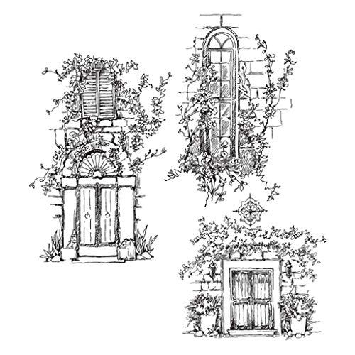 Chiic Clear Stamps,Appui De Fenêtre De Jardin Transparents Silicone Scrapbooking pour Bricolage Album Carte Craft Décoration Scrapbooking Matériel