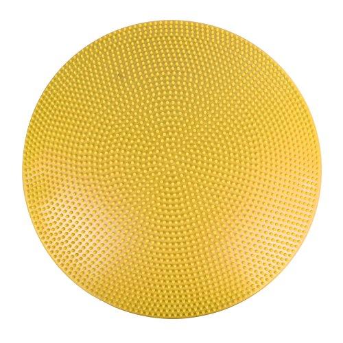 Balancekissen mit Noppenseite, Sitzkissen, aufpumpbar, Cando Balance Disc, 60 cm Durchmesser, gelb, 30-1868Y
