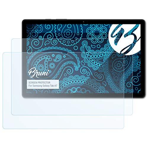 Bruni Schutzfolie kompatibel mit Samsung Galaxy Tab A7 Folie, glasklare Bildschirmschutzfolie (2X)