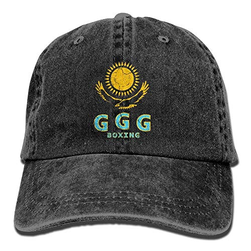 GGG Boxing Retro Washed Dyed Cotton Adjustable Baseball Cap for Ladies