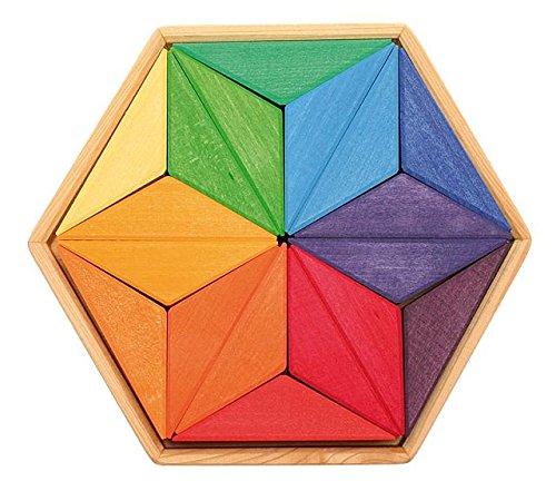 Holz Design Puzzle Complementaria de la Estrella de la Cal Madera Grimm