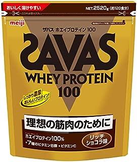 【Amazon.co.jp 限定】ザバス(SAVAS) ホエイプロテイン100+ビタミン リッチショコラ味 【120食分】 2,520g