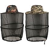 Sombrero de Red de Mosquito, BESTZY 2 Pack Mosquito Gorra Mosca Midge Insecto Insecto Sombrero de Abeja con Malla de Malla Cabeza Protectora de Cara Sombrero