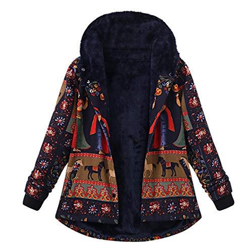FRAUIT S-5XL Winterwol damesjas, elegant, prachtig bedrukte zakken dikkere hasp-met capuchon, mantel outwear, verdikte parka, capuchon, ski, outdoor, kunstbont, jas, maat S-5XL